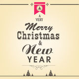 Merry Christmas or New Year celebrations concept with stylish te Royalty Free Stock Image