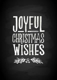 Merry Christmas and New Year Chalk Board Lettering. Letters stylized for the drawing with chalk on the blackboard Stock Photo