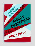 Merry christmas New Year design Royalty Free Stock Image