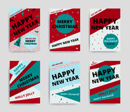 Merry christmas New Year design Stock Images