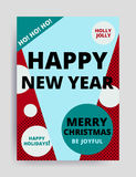 Merry christmas New Year design Royalty Free Stock Images