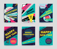 Merry christmas New Year design Stock Photography