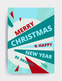 Merry christmas New Year design Royalty Free Stock Photo