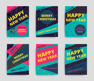 Merry christmas New Year design Stock Photos