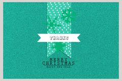 Merry Christmas and new year festival celebrations greeting card design.  Stock Photography