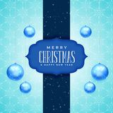 Merry christmas and new year greeting card design with realistic. Hanging balls stock illustration