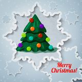 Merry christmas and new year greeting card - paper Stock Photos