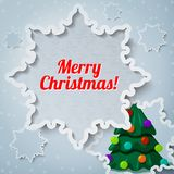 Merry christmas and new year greeting card - paper Stock Photo