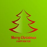 Merry Christmas New Year greeting card vector desi Stock Photos