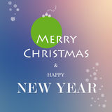Merry christmas and new year Stock Photos