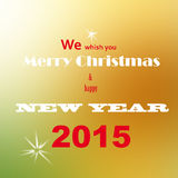 Merry christmas and new year Stock Image
