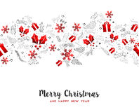 Merry Christmas New Year holiday decoration card Royalty Free Stock Image