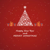Merry christmas and new year, invitation background Royalty Free Stock Photo