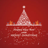 Merry christmas and new year, invitation background Stock Images