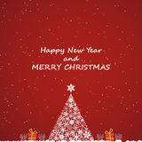 Merry christmas and new year, invitation background Royalty Free Stock Image