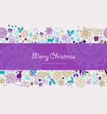 Merry christmas new year label deer holiday shapes Stock Image