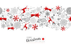 Merry Christmas New Year red decoration pattern Royalty Free Stock Images