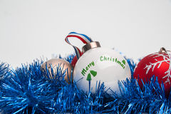 Merry Christmas. New Year's toys on a white background Stock Image