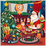 Merry Christmas and New Year. Santa Claus Stock Photos