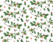 Merry Christmas New Year seamless pattern for card & gift wrappi Stock Images
