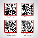 Merry Christmas and New Year stickers Stock Image