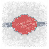 Merry Christmas and New Year. Vector greeting card Stock Image
