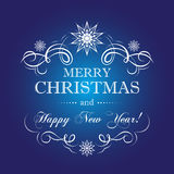 Merry Christmas and New Year. Vector Greeting card for Christmas and New Year Royalty Free Stock Photo