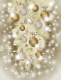 Merry Christmas and New Year wallpaper Stock Photography