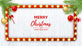 Merry Christmas or New Year web banner Royalty Free Stock Photography