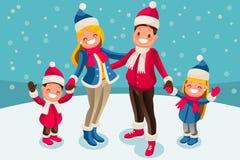 Christmas 2018 Family Wishes Illustration Royalty Free Stock Photos