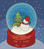 Merry Christmas and New years card Royalty Free Stock Photo