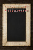 Merry Christmas New Years Chalkboard Blackboard Reclaimed Wood F Stock Image