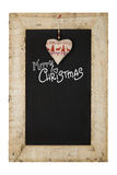 Merry Christmas New Years Chalkboard Blackboard Reclaimed Wood F Royalty Free Stock Images