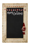 Merry Christmas New Years Chalkboard Blackboard Reclaimed Wood F Royalty Free Stock Photography