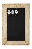 Merry Christmas New Years Chalkboard Blackboard Reclaimed Wood F Stock Images