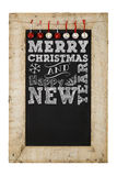 Merry Christmas New Years Chalkboard Stock Images