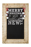 Merry Christmas New Years Chalkboard Stock Photos