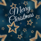 Merry Christmas on the night stars seamless pattern 2 Stock Images