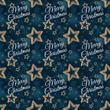 Merry Christmas on the night stars seamless pattern 2 Stock Photography