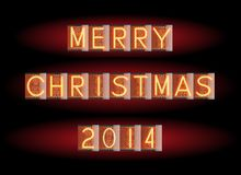 Merry Christmas 2014 Royalty Free Stock Photo