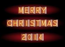 Merry Christmas 2014 Royalty Free Stock Photo