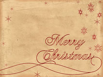 Merry Christmas old paper 2 Royalty Free Stock Photos