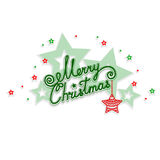 Merry Christmas with an openwork design Royalty Free Stock Photo