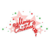 Merry Christmas with an openwork design Stock Photography