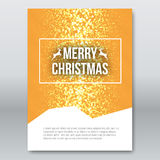 Merry Christmas Orange Invitation Card, design template, xmas brochure design, vector illustration Royalty Free Stock Images