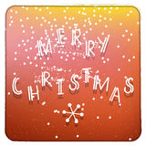 Merry Christmas orange and yellow invitation card Royalty Free Stock Images
