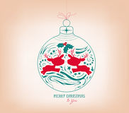 Merry christmas ornament Royalty Free Stock Photos