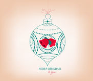 merry christmas ornament Royalty Free Stock Images