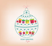 Merry christmas ornament Royalty Free Stock Photography