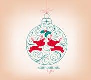 merry christmas ornament Stock Photos